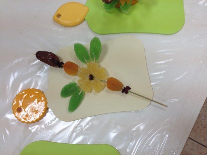 סדנת פרחים טעימים מפירות מיובשים