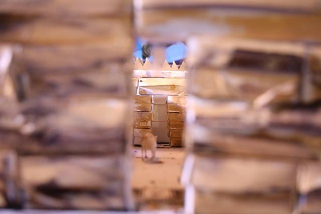 מוצג של קרבן בדגם בית המקדש